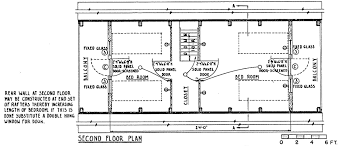 frame home cross section floor plan house plans 33051