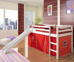 Top Bunk Bed Only Apartments Low Loft Bed Tent Slide White Bedroom Furniture