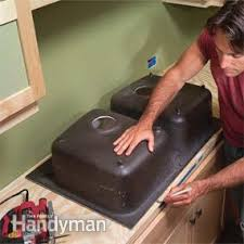 cutting countertop for sink installing tile countertops family handyman
