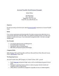 Career Objective Resume Accountant Accounting Clerk Resume Sample Resume For Your Job Application