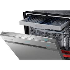 samsung chef collection top control dishwasher in stainless steel samsung chef collection top control dishwasher in stainless steel with stainless steel tub and waterwall wash