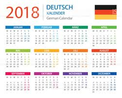 Kalender 2018 Germany Kalender 2018 Deutsche Version Vektor Illustration 672016754 Istock