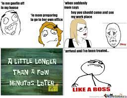 Office Boss Meme - in the office like a boss by billboss2004 meme center