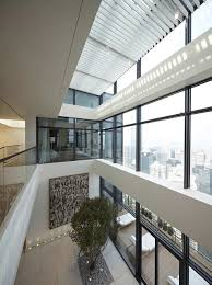 atrium in a 2 story penthouse in china high rise living