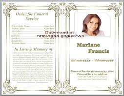 programs for funeral services free memorial templates funeral memorial program templates free