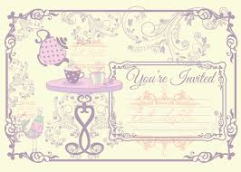 Blank Invitation Cards Templates Tea Party Invitation Blank Downloadable