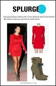 splurge kim kardashian u0027s miami mr chow balmain red embroidered