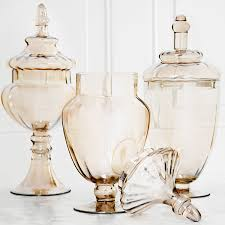 Apothecary Jars For Candy Buffet by Amazon Com Palais Glassware Clear Glass Apothecary Jars Set Of