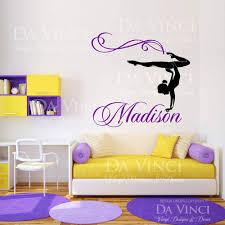 personalized girl name gymnast gymnastics dance vinyl wall decal personalized girl name gymnast gymnastics dance vinyl wall decal sticker room ebay