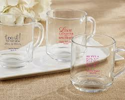 personalized mugs for wedding rise and shine 10 oz glass clear mug wedding my wedding favors