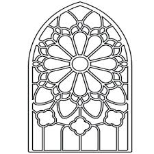 stained glass coloring sheet free printables pages religious