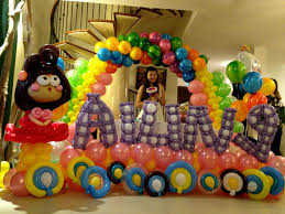 interior design cool balloon themed birthday party decorations