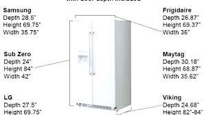 cabinet depth refrigerator dimensions sub zero fridge dimensions dimensions of sub zero refrigerators