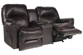 Reclining Leather Sofa And Loveseat Furniture Loveseat With Console Double Recliner Loveseat