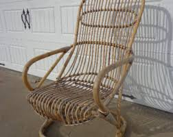 Accent Rocking Chairs Bamboo Rocking Chair Etsy