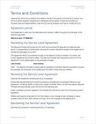 service level agreement template apple iwork pages numbers