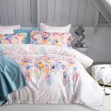 svetanya peacock feather bedding sets queen king double size