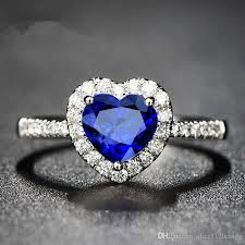 best stone rings images 2018 top sell blue stone heart stone ring fashion cz zircon jpg