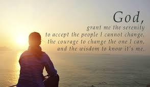 serenity prayer god grant me serenity courage wisdom
