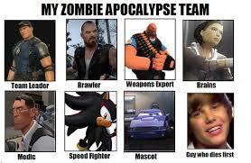 Zombie Team Meme - my zombie apocalypse team by nightrift97 on deviantart