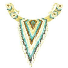 beads necklace handmade images Handmade beaded necklace in white gold and turquoise colored jpg