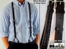 Comfortable Suspenders Black Or Brown Holdup Usa Made Leather Suspenders Come In Either