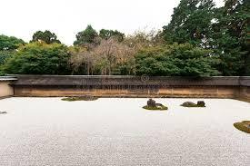 Ryoanji Rock Garden Rock Garden In Ryoanji Temple Stock Image Image Of