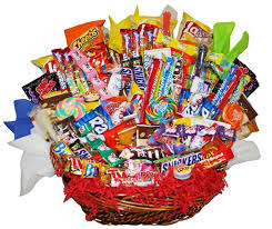 candy gift basket yum yum assorted candy gift basket basket pizzazz