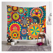 tapestry home decor colorful floral print wall tapestry home decor custom shower