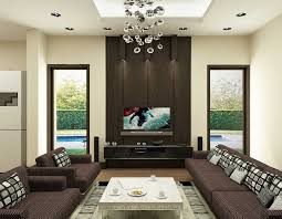 Modern Leather Living Room Interior Fascinating Modern White And Brown Living Room