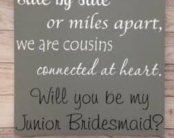 asking of honor poem cousin bridesmaid etsy