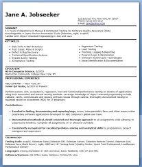 resume formatting software qa software tester resume sle entry level creative resume