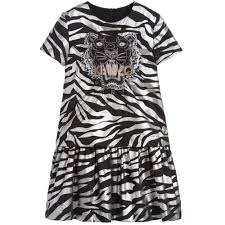 kids exclusive edition silver tiger print dress childrensalon