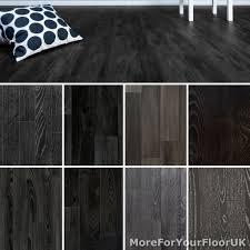 Black Vinyl Plank Flooring Bathroom Lino Laminate Vinyl Ebay