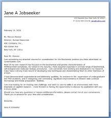 cover letter for biochemistry position shishita world com