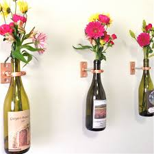 Wine Glass Wall Decor Hardware Only 4 Wine Bottle Wall Flower Vase Kits Diy Or