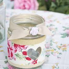 rose jam jar candle holder tea light holder vintage books and teas