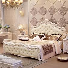 European Bed Frames European Style Bed M High Box Bed Soft Package Back Marital