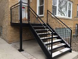 Glass Banister Kits Stairs Marvellous Outdoor Stair Rails Terrific Outdoor Stair