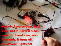 front camera and control switch for front or back view camera
