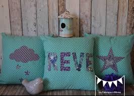coussin chambre bébé 3 housses coussins turquoise violet blanc bleu étoiles nuages