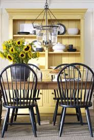 best 25 windsor chairs ideas on pinterest rustic farm table like the look of light wood table dark chairs and bright color focal hutch