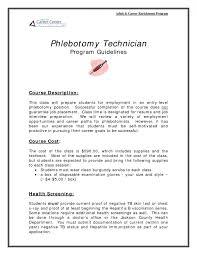 phlebotomy resumes skills section resume phlebotomy
