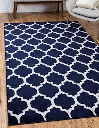 navy blue 155cm x 245cm trellis rug area rugs au rugs