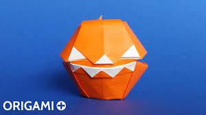 origami scary halloween pumpkin box