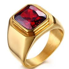 big old rings images Vintage gold old plated crystal ring for men stainless steel big png