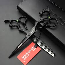 hair dressing personalities hairdressing scissors 6 inch personality black dragon handle high