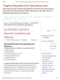 design lab viva questions 20 top plc lab viva interview questions and answers plc lab viva