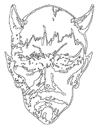 halloween coloring pages horned devil