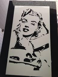 Peinture Noir Et Blanc by Table Basse Marilyn Monroe Peinture Noir Et Blanc 44 Auto Design 44
